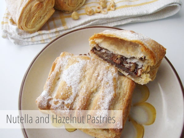 Nutella and Hazelnut Pastries.