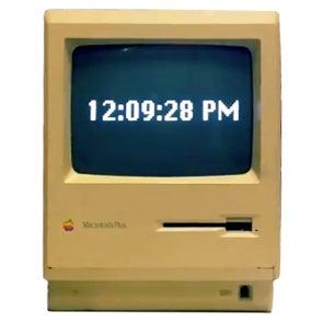 Mac Plus Clock