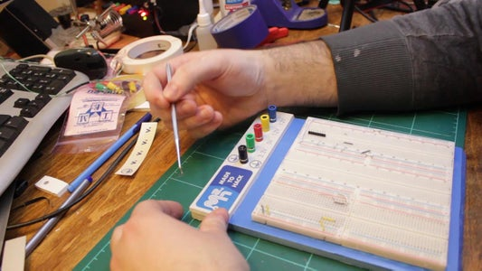 Sticking the Solderless Boards and Custom Graphics