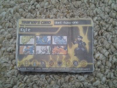 Pokémon Trainer Card