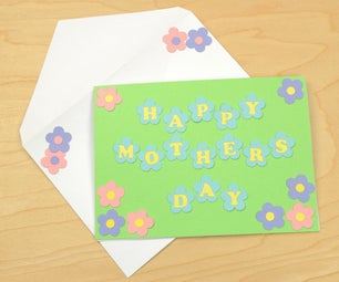 Mom Flower Letter Card