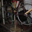 Bamboo bike stand and fender
