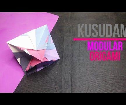 Modular Kusudama Origami [DIY] by Brain Washer