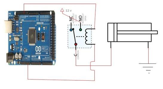 Conectamos El Relay, El Actuador Y El Arduino.
