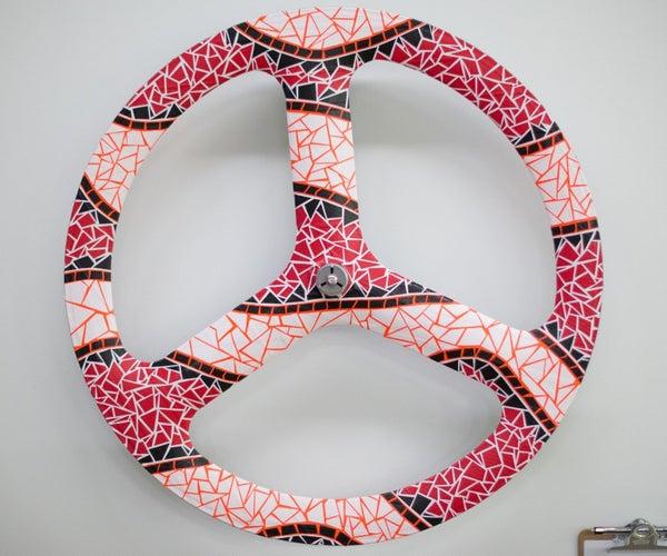Duct Tape Bike Wheel Art