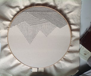 Big Geometric Mountain Embroidery