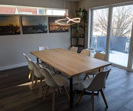 Build Your Own: Affordable Modern Dining & Gaming Table
