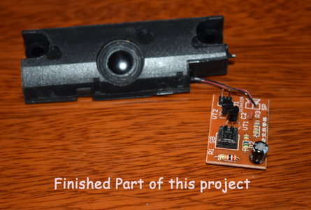 Solder the Speaker to the PCB