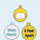 Stay Safe Mix | Make Keyrings With Tinkercad: Wash Hands, Social Distancing and Wear Face Mask