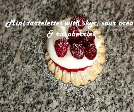 Mini Tartelettes With Skyr, Sour Cream & Raspberries Recipe