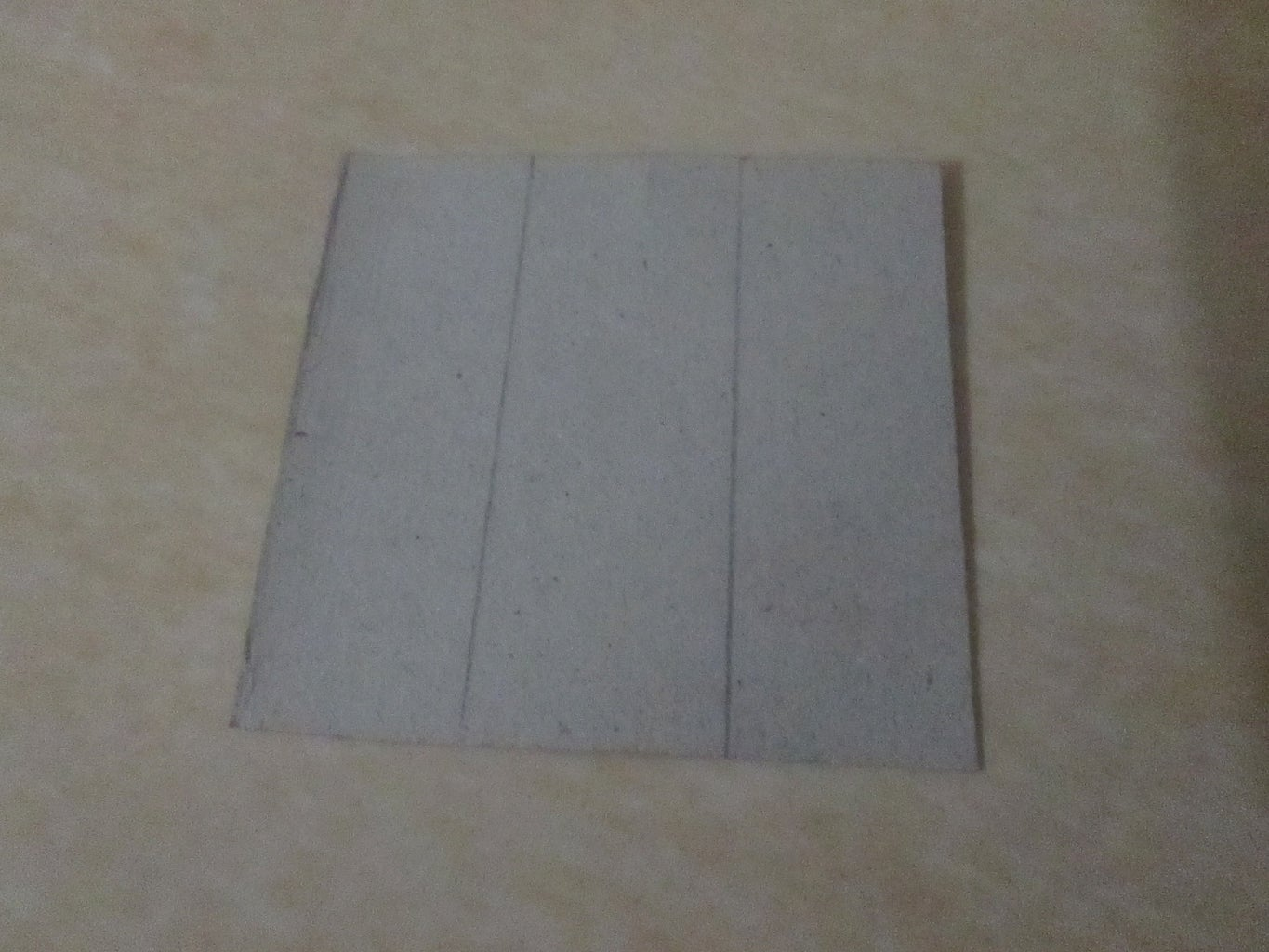 Make Small Square From Cardboard
