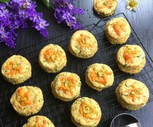 奶酪和菠菜烤饼用姜黄