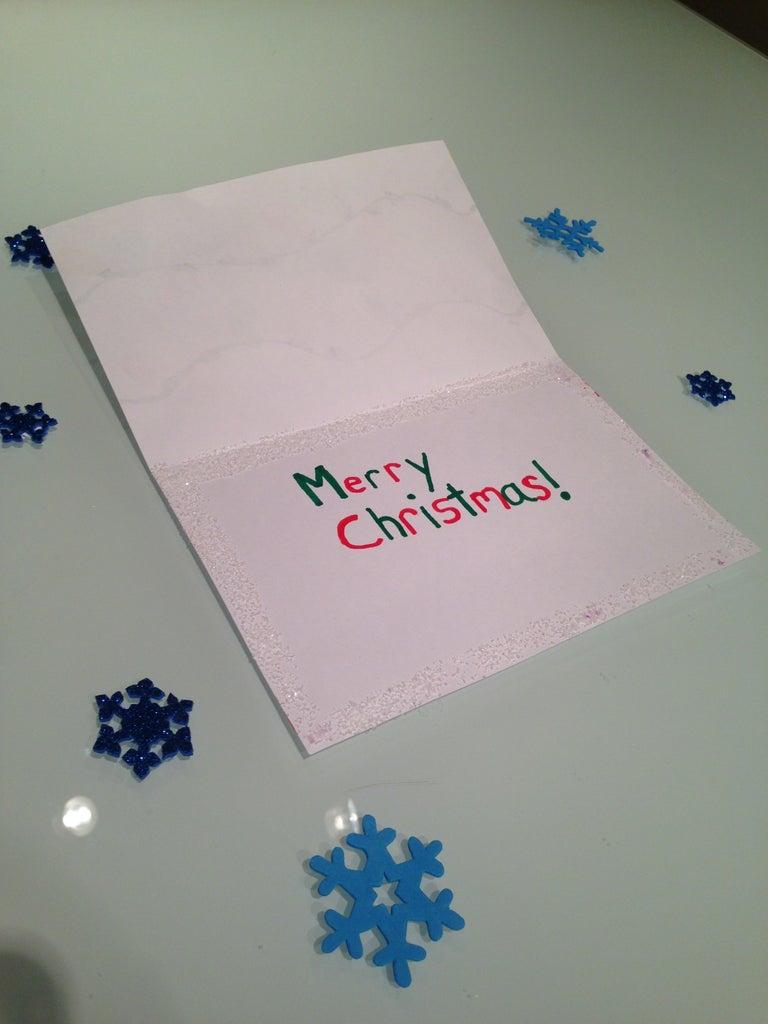 Thumb Print Christmas Lights Card