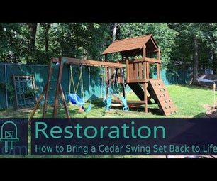 Restoration: How to Bring a Cedar Swing Set Back to Life