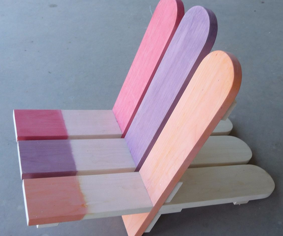 Child's Popsicle Stick Deck Chair