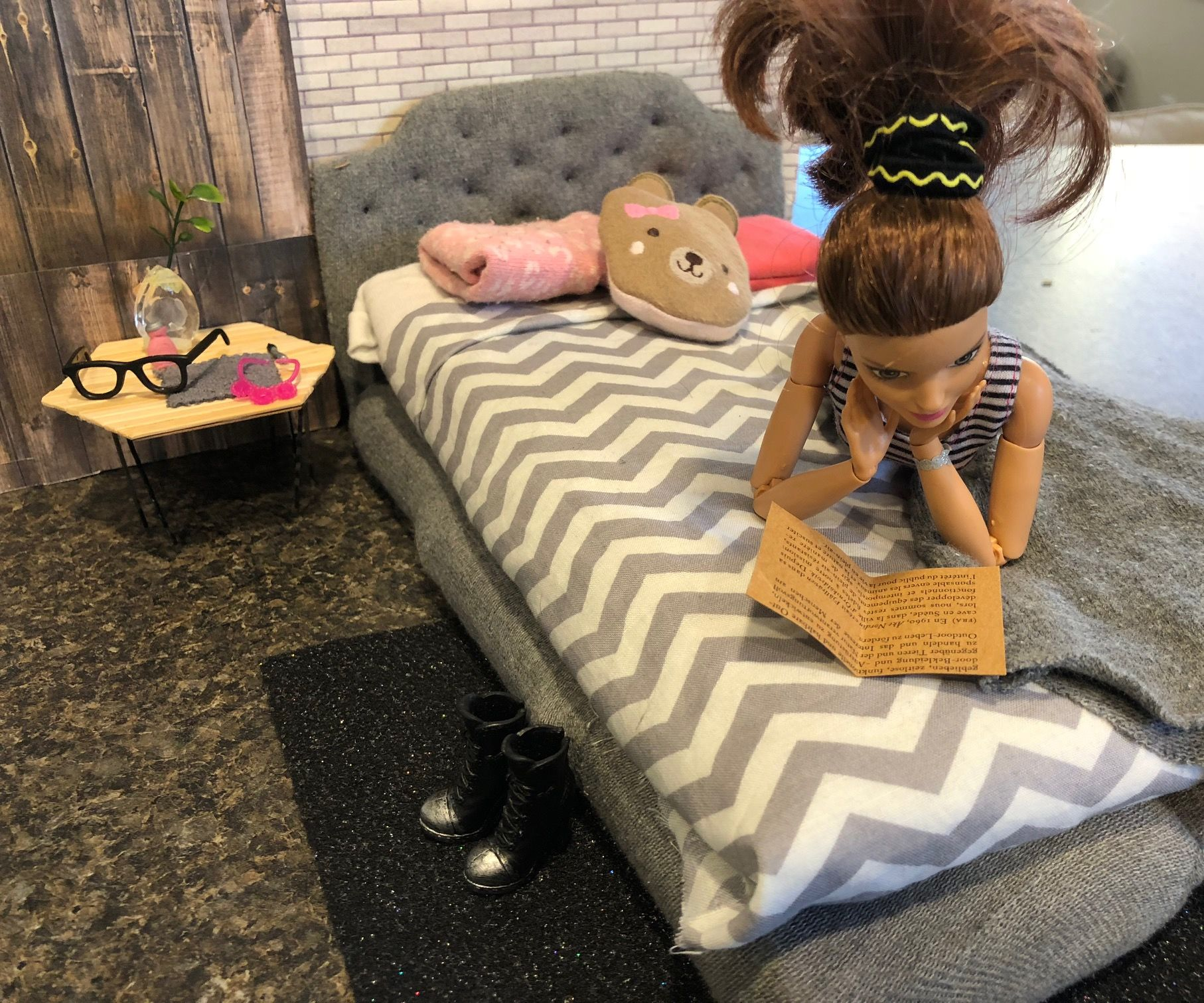 Minature Tufted Bed