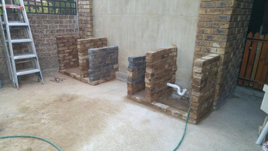 Brick Frame for Counter Tops
