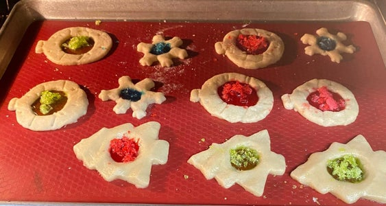Filling and Baking Cookies