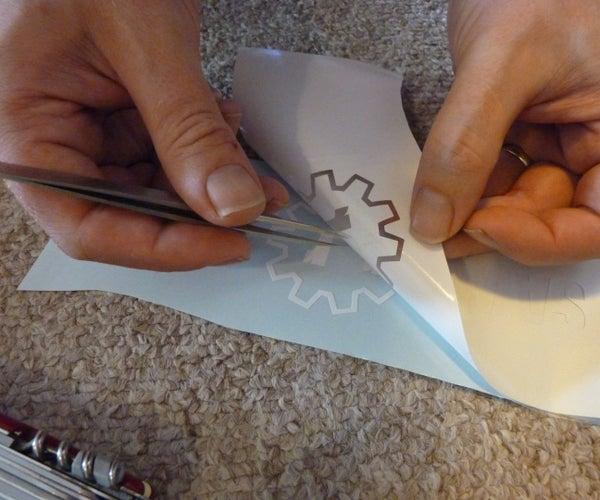 Using Silhouette Portrait to Cut Sticky Vinyl Designs