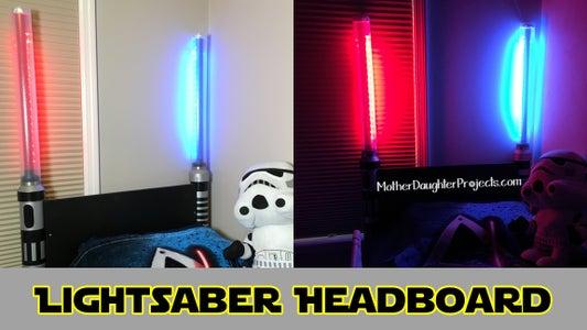 Lightsaber Headboard