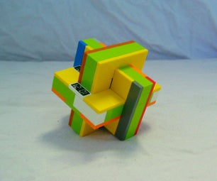 3 Piece Lego Mechanical Puzzle (Intersecting Planes)