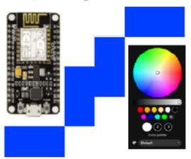 WLED (on ESP8266) + IFTTT + Google Assistant