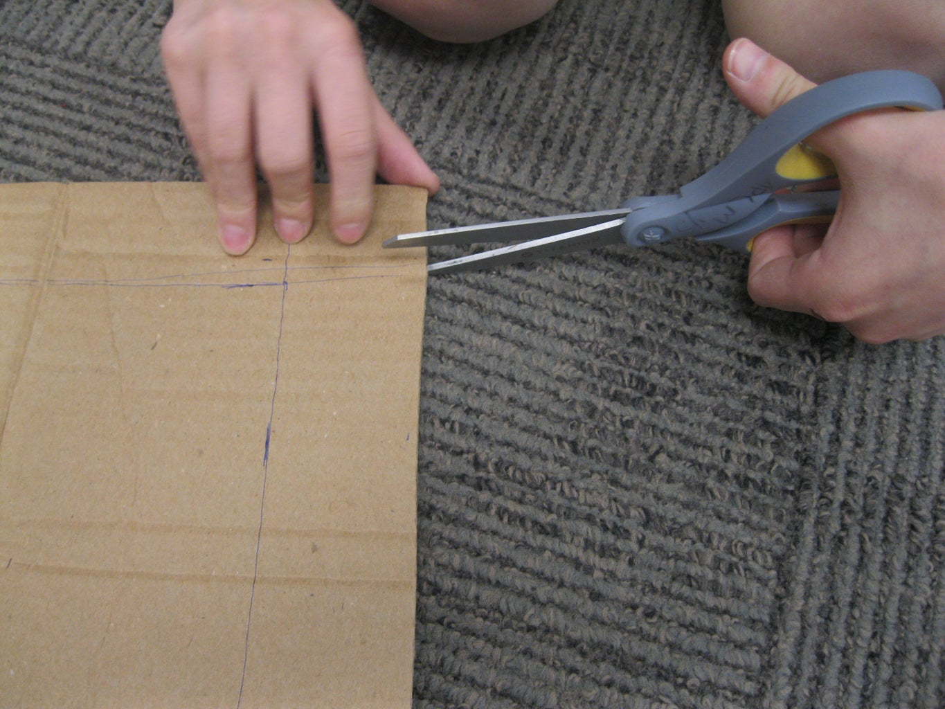 Mark and Cut the Piece for the Top, and Fold the Flaps