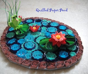 Quilled Paper Pond