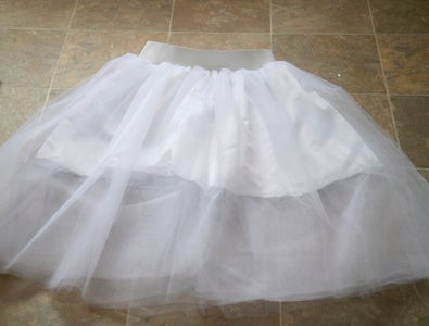 Sew Elastic to Skirt