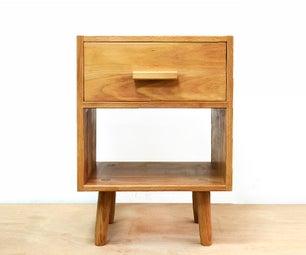 DIY Hardwood Nightstand