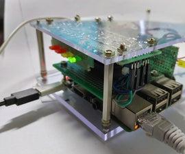 覆盆子PI盒冷却风扇与CPU温度指示器