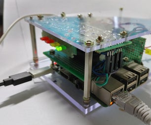 Raspberry Pi Box of Cooling FAN With CPU Temperature Indicator