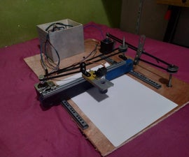 CNC Plotter Literally Out of Trash From a Sketch