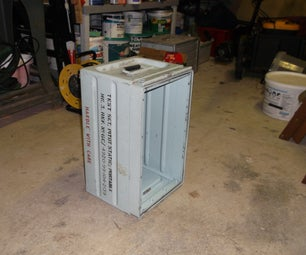 Workshop Stool From a Steel Box.