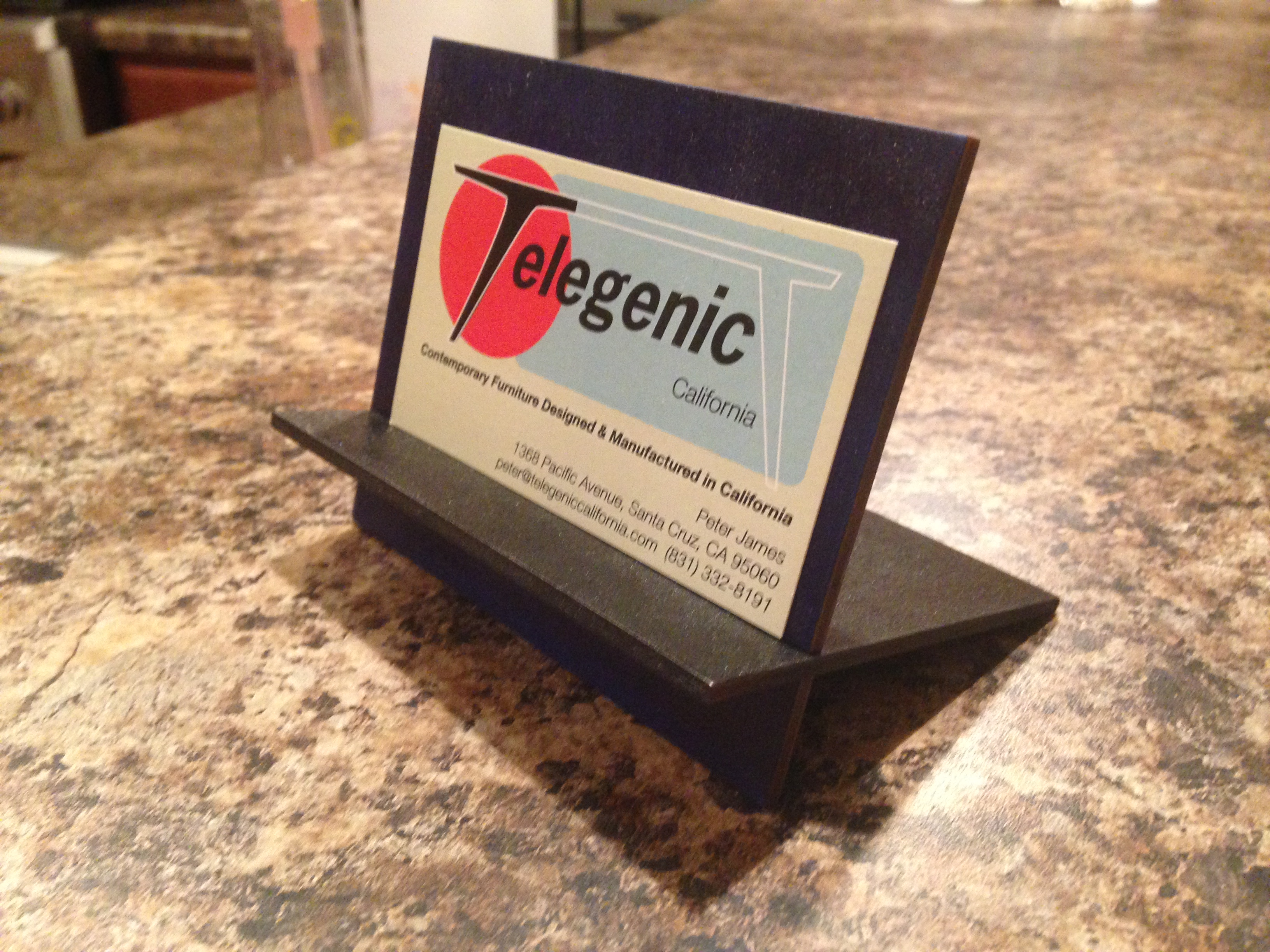 Laser Cut Business Card Holder - Made @ TechShop