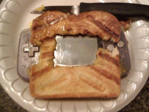 How to make a grilled cheese gameboy sandwich!