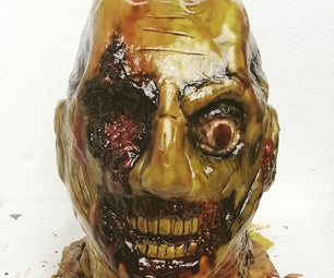 The Walking Dead Chocolate Zombie Cake