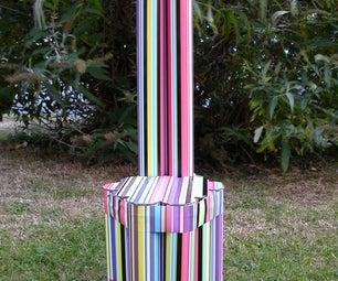 Toddler Chair From Postal Tubes