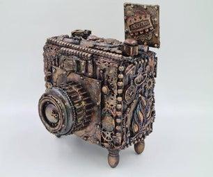 Steampunk纸板相机