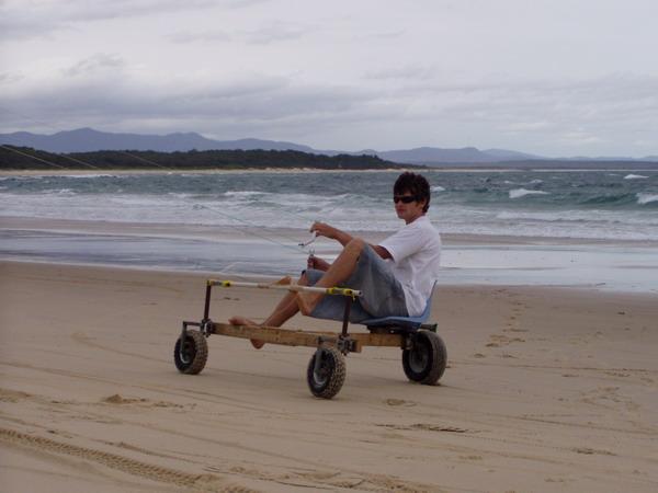 Kite Powered Land Proa
