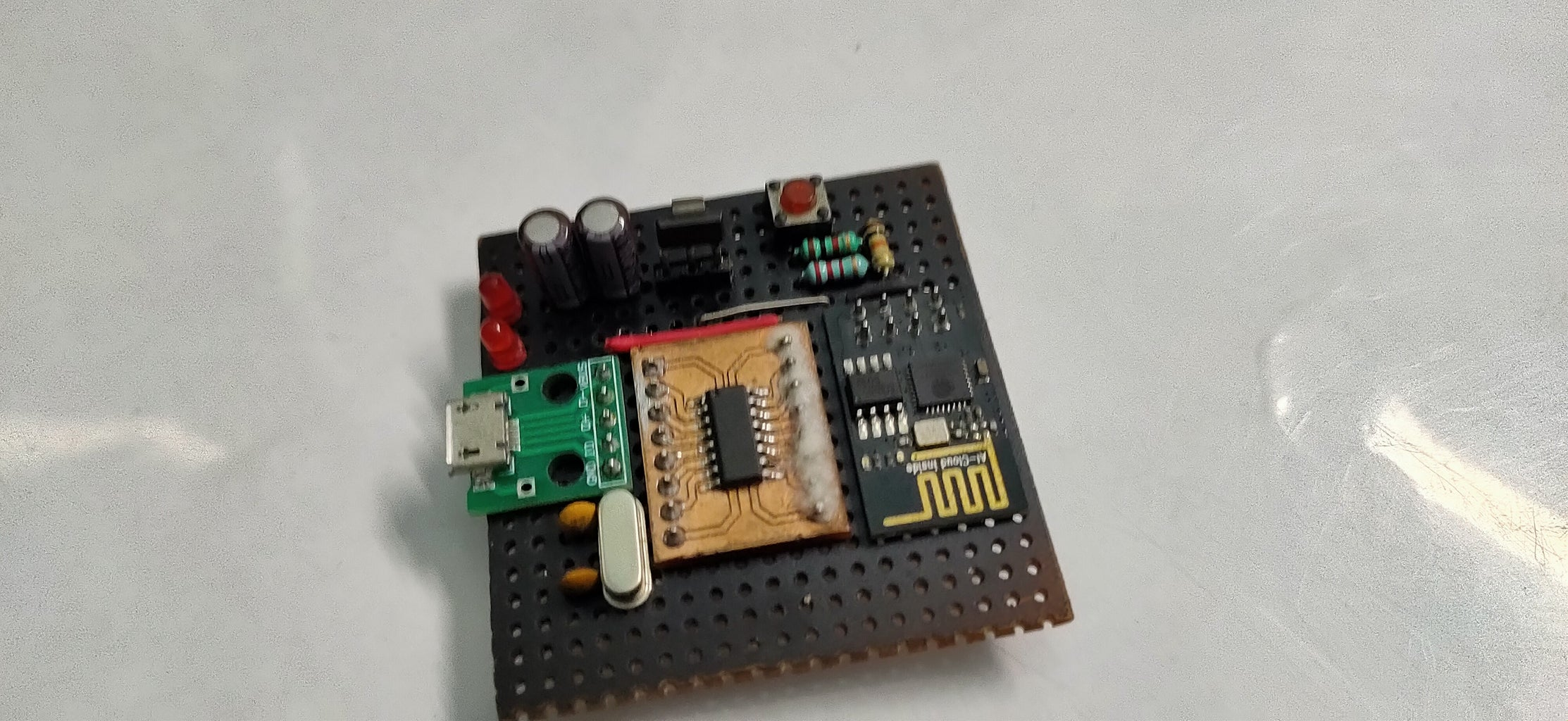 Adding the ESP Module Along With Status LED