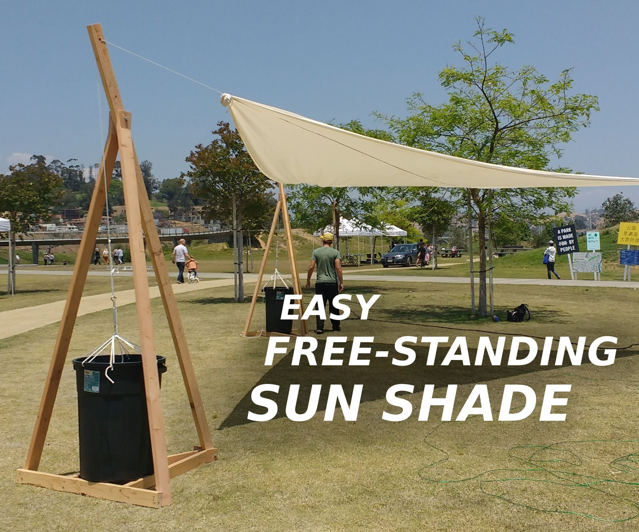 Easy Free-Standing Sun Shade