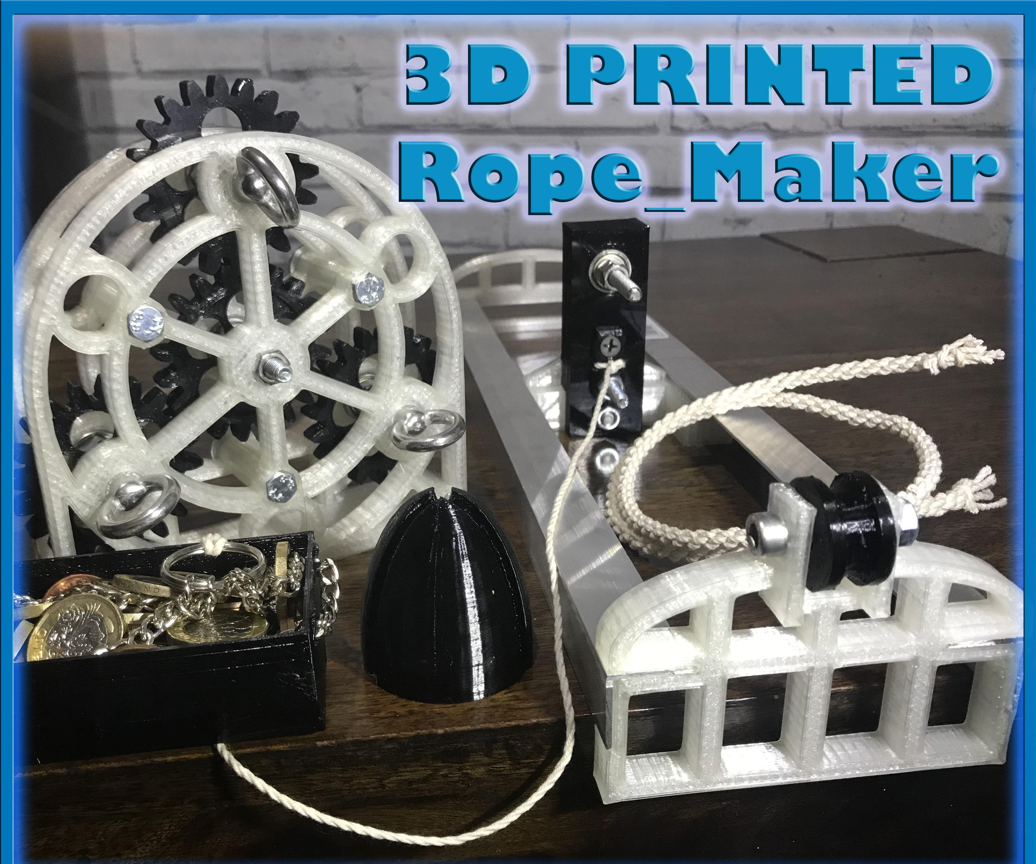 3D Printed Rope Maker