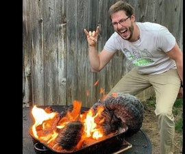Growing Fire Snakes in  Liquid Sand Gas Fire Pit!