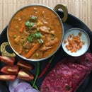 Mixed Vegetable Kadai Masala With Beetroot Parathas