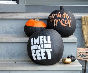 DIY: No-carve Typography Pumpkins