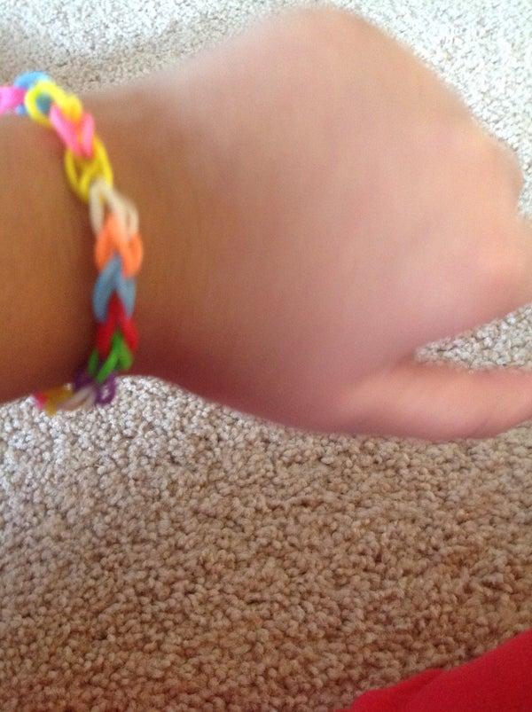 Rainbow Loom Keychain Bracelet