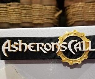 "3D Printed ""Asheron's Call"" Name Plate / Fridge Magnet"