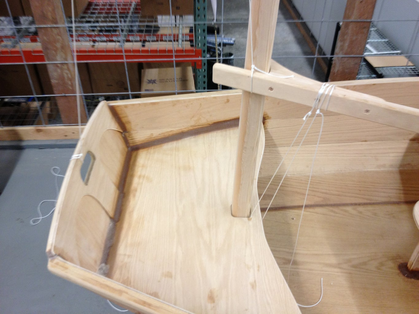 Making the Spars...