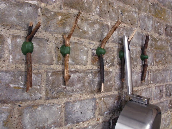 How to Make Beautiful Hooks From Twigs and  Sugru:)  (+ New Video)